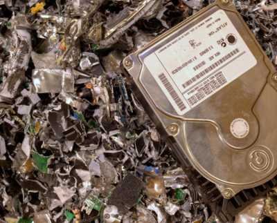 Hard Drive Shredding Service including other electronic storage media such as backup tapes, memory sticks, disks, cd and dvd