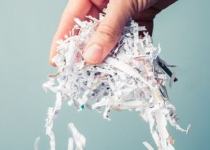 Secure Paper Shredding Services from a document shredding company who cares, our shred services put your confidential office documents beyond the reach of criminals .